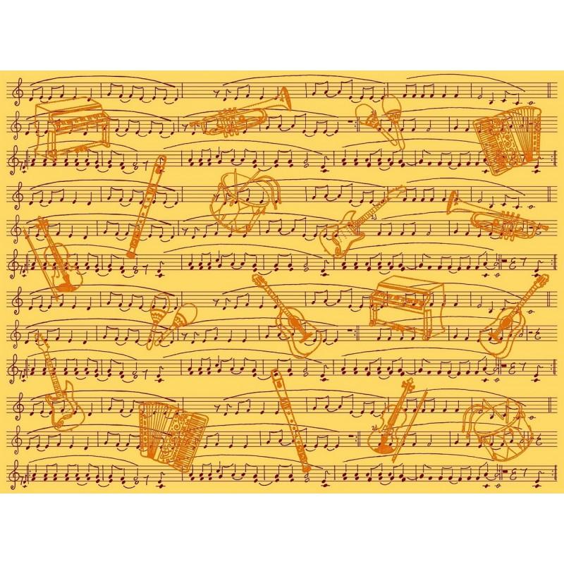 Feuille d copatch partition de musique jaune - Feuille de musique a imprimer ...