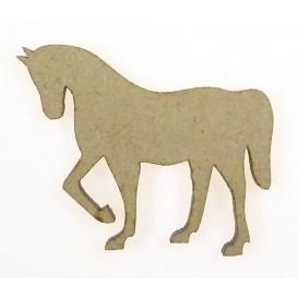 sujet en bois cheval au pas