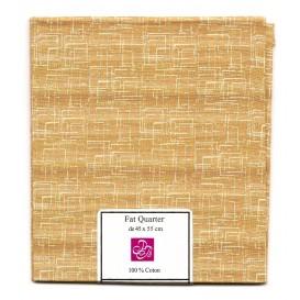 coupon patchwork imprimé carrés marron