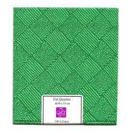 coupon patchwork imprimé carrés verts