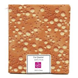 coupon patchwork imprimé bulles marron foncé