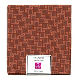 coupon patchwork imprimé carrés marrons