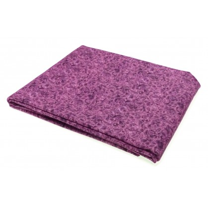 coupon patchwork fleurs violet clair 1mx1,12m