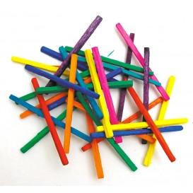 500 allumettes multicolores 4,3cm