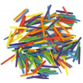 200 mini batonnets multicolores 5,5x0,5x0,2cm