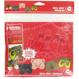 pack 5 masques à customiser avec gommettes