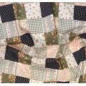 tissu popeline carreaux noirs fleurs largeur 145cm x 50cm n°2