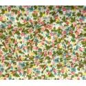 tissu imprimé fleurs printemps largeur 113cm x 50cm