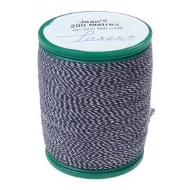 fil à coudre coton jeans bleu 200m