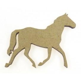 sujet en bois cheval au trot
