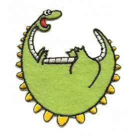 écusson dinosaure rigolo thermocollant