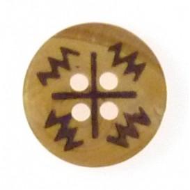 bouton en bois indien 15mm