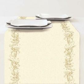 chemin de table en papier noël ange or 33x600cm