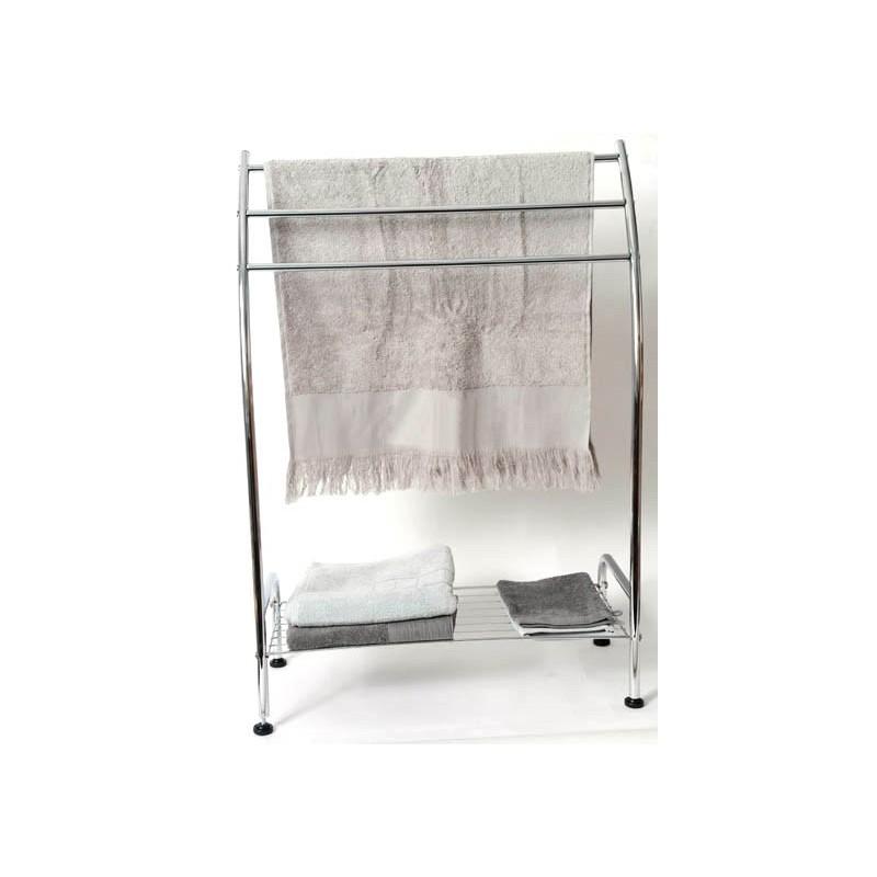meuble porte serviettes m tal 3 barres 1 tag re. Black Bedroom Furniture Sets. Home Design Ideas