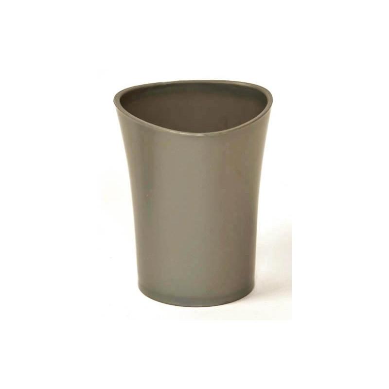 Gobelet de salle de bain en pvc conique gris for Porte gobelet salle de bain