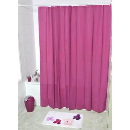 rideau de douche uni violet 180x200cm