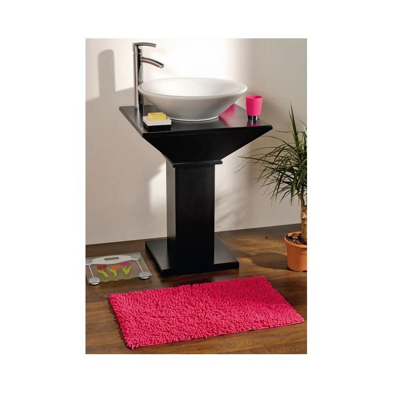Tapis de bain coton chenille 45x75cm fuschia - Tapis salle de bain fushia ...