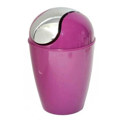 Poubelle de salle de bain en pvc conique violet - Poubelle salle de bain bois ...