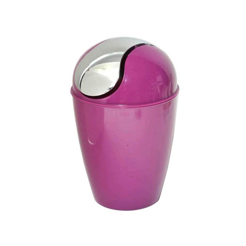 Poubelle de salle de bain en pvc conique violet for Poubelle de salle de bain en bois
