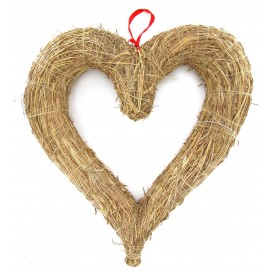 coeur en graminés 33x30cm