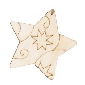 2 étoiles en bois à suspendre