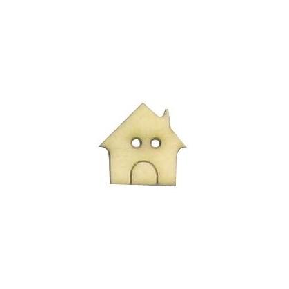bouton bois fantaisie enfant maison 15mm