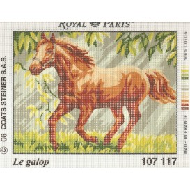 kit canevas cheval au galop