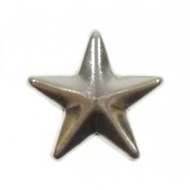 bouton clous étoile argent 12mm