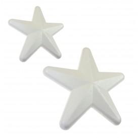 lot 20 étoiles en polystyrène 10cm et 13cm