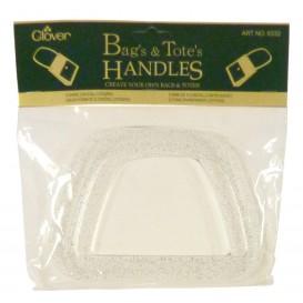 paire poignée de sac clover transparent
