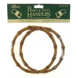 paire poignée de sac clover ronde façon bambou
