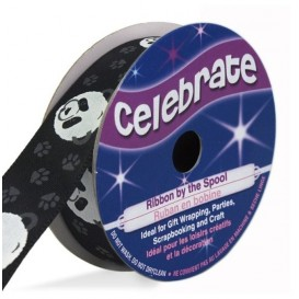 bobine de ruban celebrate satin panda 16mm x 3m