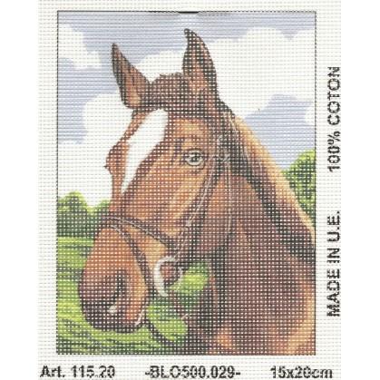 Kit canevas tête de cheval 15x20 cm