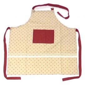 tablier de cuisine pois rouge 75x80cm