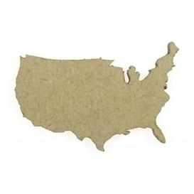 sujet en bois carte des etats unis