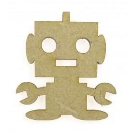 sujet en bois robot