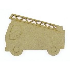 sujet en bois camion de pompier