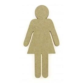 sujet en bois silhouette femme
