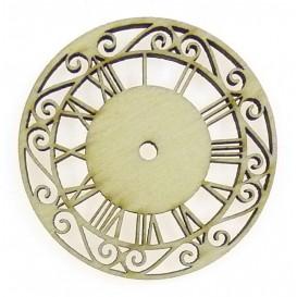 sujet en bois horloge ancienne 45mm
