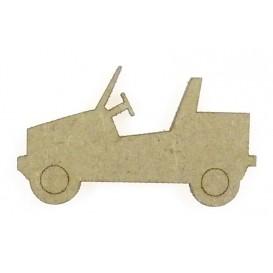 sujet en bois voiture jeep