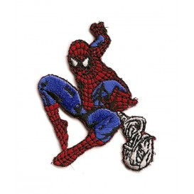 écusson spider-man toile thermocollant