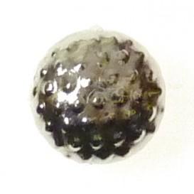 bouton clous rond picots argent 8mm