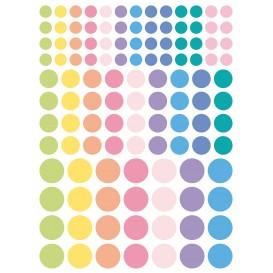 gommettes rondes pastel 348 pièces