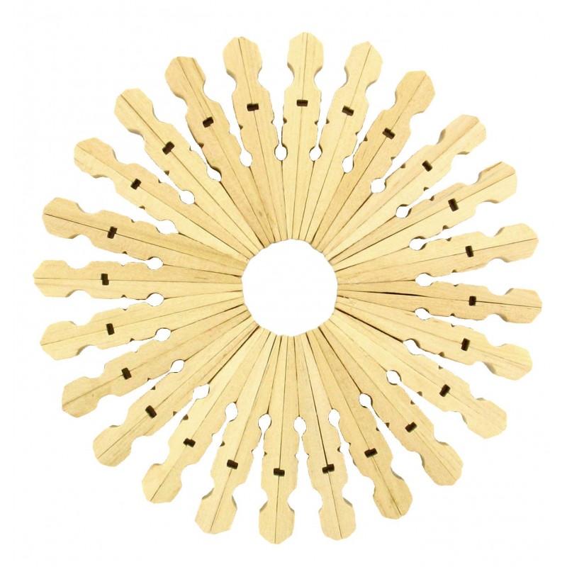 200 demi pinces linge naturelles en bois - Que faire avec des pinces a linge en bois ...