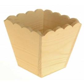 cache pot 10,5x10,5x9 cm en bois