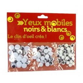 YEUX MOBILES NOIRS ET BLANCS