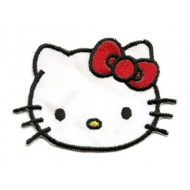 écusson tête hello kitty thermocollant