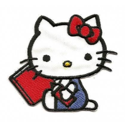 écusson hello kitty assis thermocollant