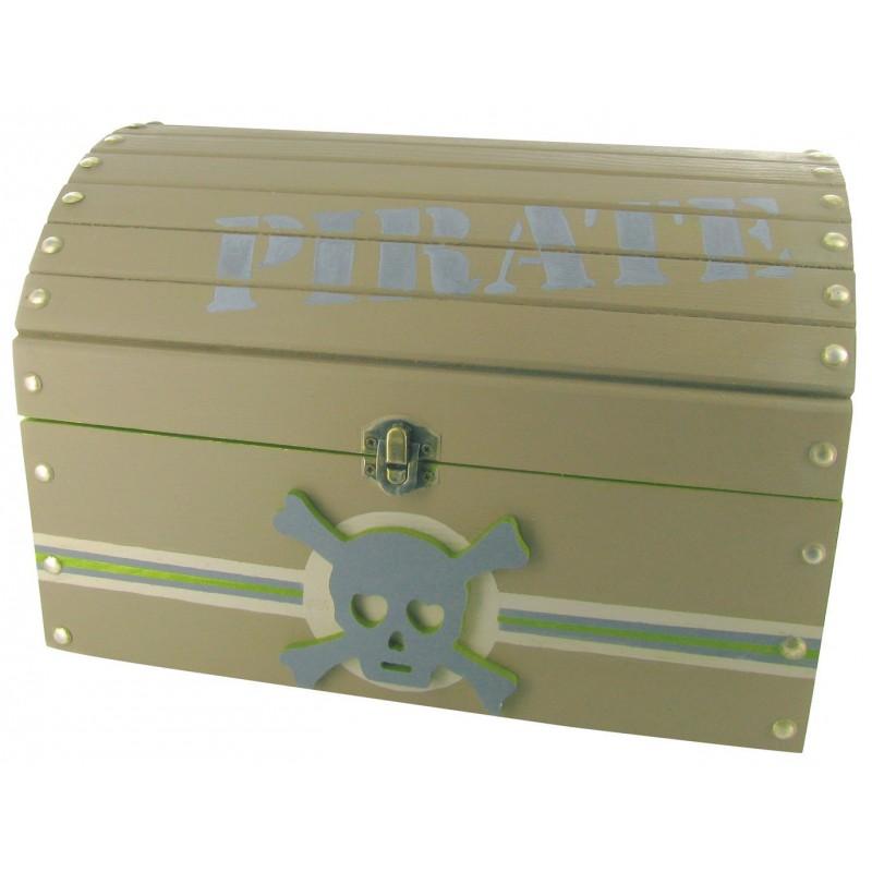 sup rieur coffre pirate en bois 12 couleur naturelle en. Black Bedroom Furniture Sets. Home Design Ideas