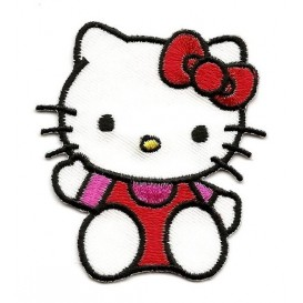 écusson hello kitty assis thermocollant n°2